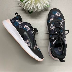 Under Armour Floral Sneaker Shoe Charged Black Pin